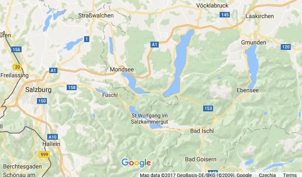 Nase mapa destinaci v rakousku