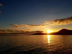 Východ slunce, Galapagy